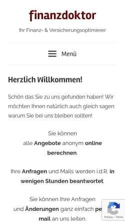 Vorschau der mobilen Webseite www.finanzdoctor.de, Toralf Tepelmann [finanzdoctor.de]