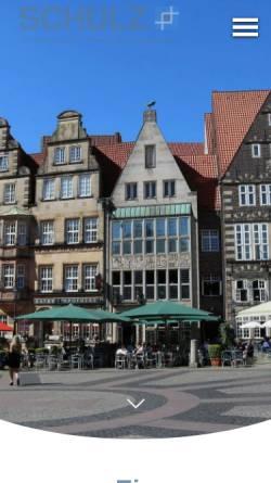 Vorschau der mobilen Webseite www.finanzmakler-schulz.de, Versicherungsmakler Dipl. Kfm. Matthias Schulz
