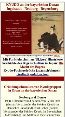Vorschau der mobilen Webseite donau-dojo.de, Donau-Dojo Ingolstadt e.V.