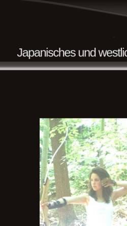 Vorschau der mobilen Webseite www.kyudo-sum.de, Kyudo Tübingen - Japanisches Bogenschießen