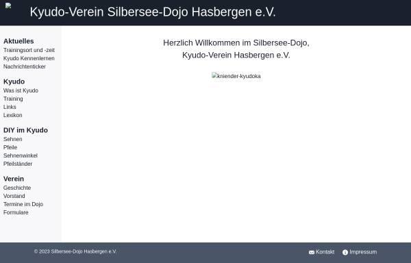 Vorschau von www.kyudo-hasbergen.de, Kyudo-Verein Silbersee-Dojo Hasbergen e.V.