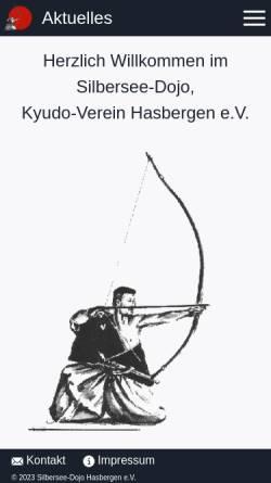 Vorschau der mobilen Webseite www.kyudo-hasbergen.de, Kyudo-Verein Silbersee-Dojo Hasbergen e.V.