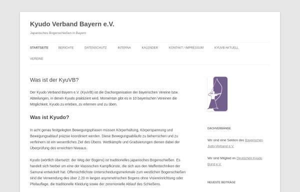 Vorschau von kyudobayern.de, Sektion Kyudo im Bayerischen Judoverband