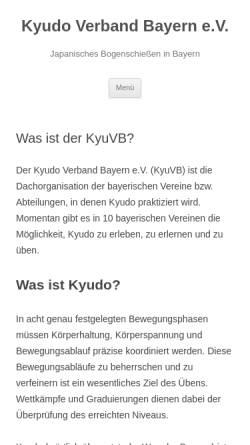 Vorschau der mobilen Webseite kyudobayern.de, Sektion Kyudo im Bayerischen Judoverband