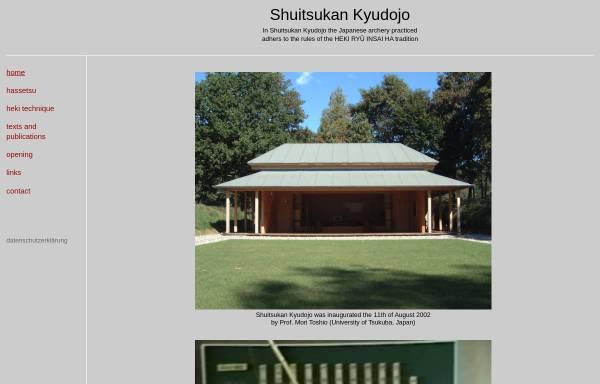 Vorschau von www.shuitsukankyudojo.de, Shuitsukan Kyudojo