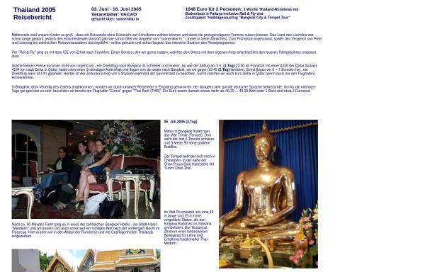 Vorschau von www.mauersberger-haarhausen.de, Thailand Rundreise 2005 [Susanne & Andreas Mauersberger]