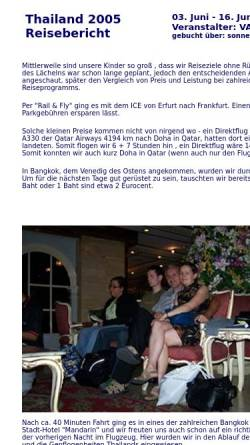 Vorschau der mobilen Webseite www.mauersberger-haarhausen.de, Thailand Rundreise 2005 [Susanne & Andreas Mauersberger]