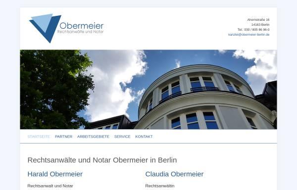Vorschau von www.obermeier-berlin.de, Obermeier & Obermeier