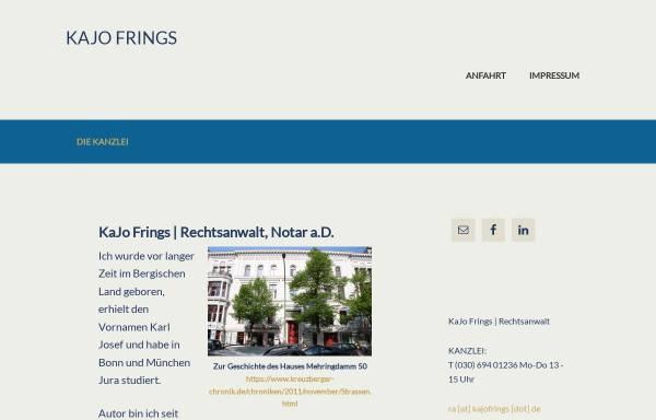 Vorschau von www.kajofrings.de, Rechtsanwalt und Notar KaJo Frings