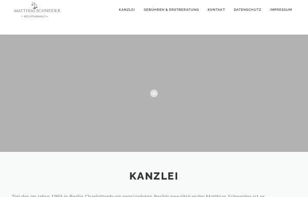 Vorschau von www.anwaltsbuero-schneider.de, Schneider, Matthias