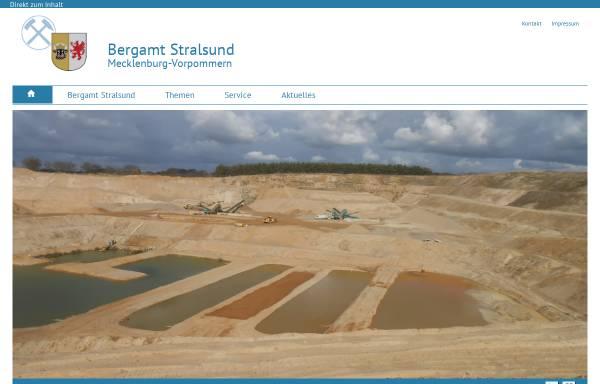 Vorschau von www.bergamt-mv.de, Bergamt Stralsund