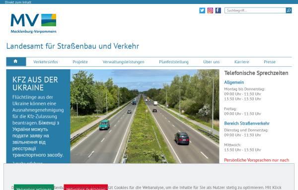 Vorschau von www.strassenbauverwaltung.mvnet.de, Landesamt für Straßenbau und Verkehr