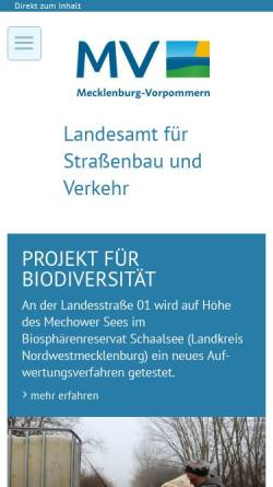 Vorschau der mobilen Webseite www.strassenbauverwaltung.mvnet.de, Landesamt für Straßenbau und Verkehr