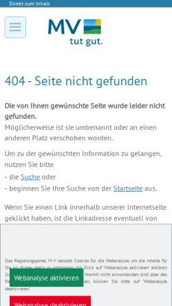 Vorschau der mobilen Webseite www.mv-regierung.de, Landesbeauftragte für Frauen und Gleichstellung