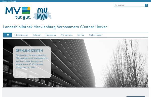 Vorschau von www.lbmv.de, Landesbibliothek