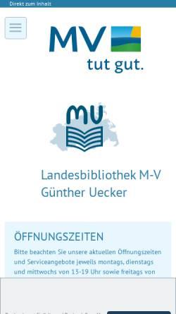 Vorschau der mobilen Webseite www.lbmv.de, Landesbibliothek