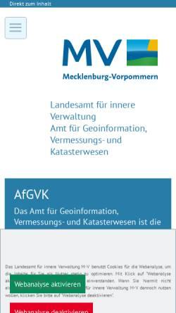 Vorschau der mobilen Webseite www.lverma-mv.de, Landesvermessungsamt Mecklenburg-Vorpommern