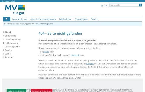 Vorschau von www.mv-regierung.de, Ministerium für Wirtschaft, Arbeit und Tourismus