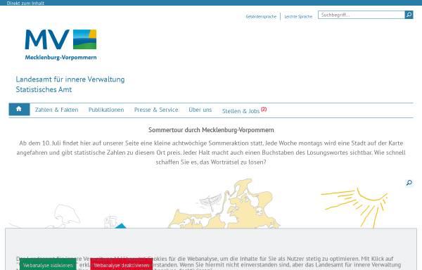 Vorschau von www.statistik-mv.de, Statistisches Amt Mecklenburg-Vorpommern