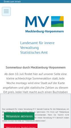 Vorschau der mobilen Webseite www.statistik-mv.de, Statistisches Amt Mecklenburg-Vorpommern