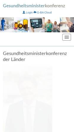 Vorschau der mobilen Webseite gmkonline.de, Wirtschaftsministerium