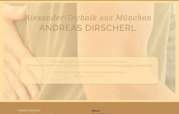 Vorschau von www.alexandertechnik.andreasdirscherl.de, Andreas Dirscherl