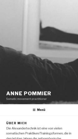 Vorschau der mobilen Webseite www.anne-pommier.com, Anne Pommier
