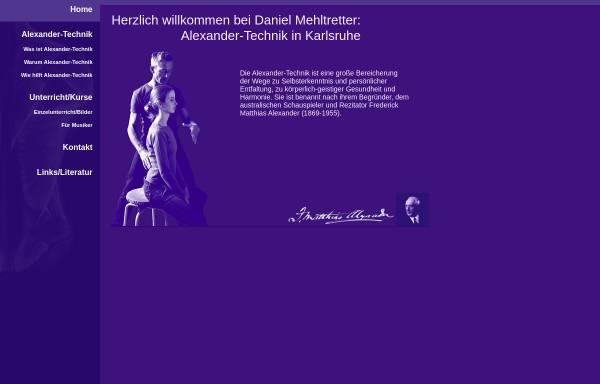 Vorschau von alexander-technik-karlsruhe.de, Daniel Mehltretter