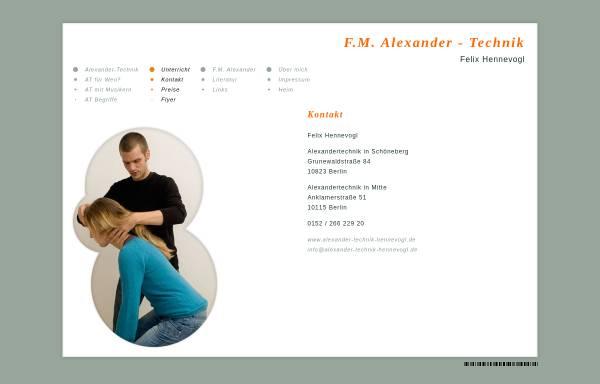 Vorschau von www.alexander-technik-hennevogl.de, Felix Hennevogl