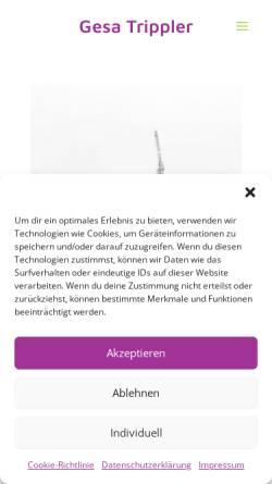 Vorschau der mobilen Webseite www.gesatrippler.de, Gesa Trippler