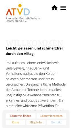 Vorschau der mobilen Webseite www.alexander-technik.org, Gesellschaft der Lehrer/innen der F.M. Alexander-Technik