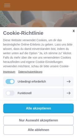 Vorschau der mobilen Webseite www.alexander-technik.at, Gesellschaft für Alexander-Technik Österreich