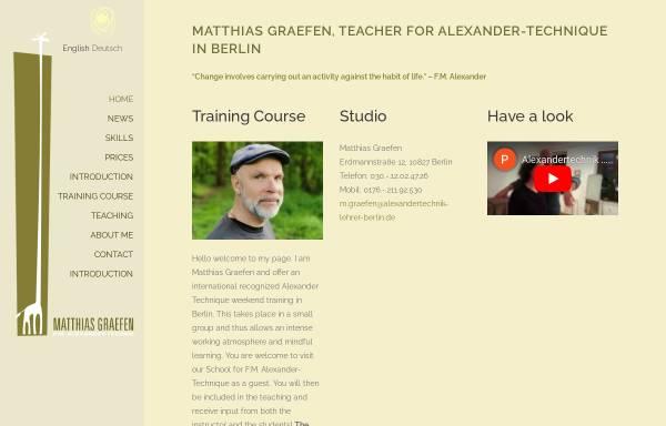 Vorschau von www.alexandertechnik-lehrer-berlin.de, Matthias Graefen