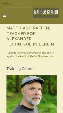 Vorschau der mobilen Webseite www.alexandertechnik-lehrer-berlin.de, Matthias Graefen