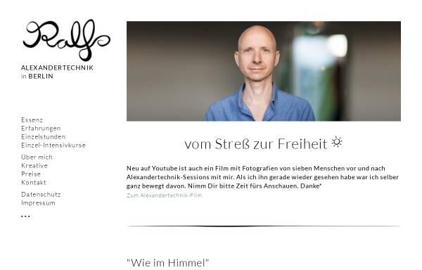 Vorschau von www.alexandertechnik-berlin.de, Ralf Hiemisch