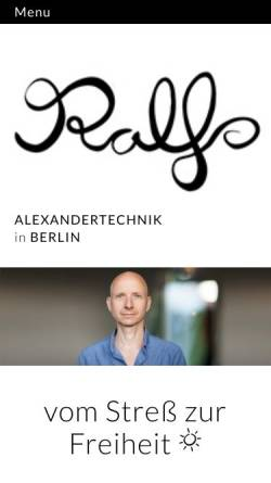 Vorschau der mobilen Webseite www.alexandertechnik-berlin.de, Ralf Hiemisch