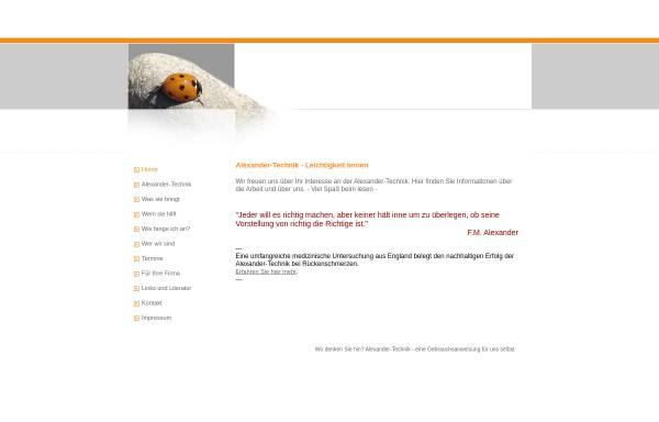 Vorschau von www.alexander-technik-bielefeld.de, Thomas Pupkulies und Sabine Riepe