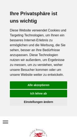 Vorschau der mobilen Webseite www.julia-busching.de, Busching, Julia