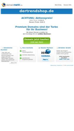 Vorschau der mobilen Webseite www.dertrendshop.de, Trendshop; Eric Schmid
