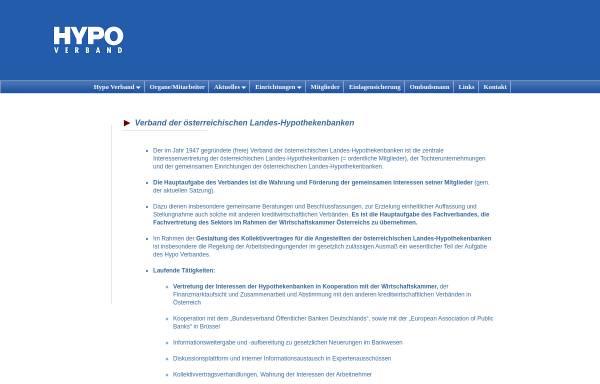 Vorschau von www.hypoverband.at, Pfandbriefstelle der österreichischen Landes-Hypothekenbanken