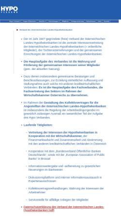 Vorschau der mobilen Webseite www.hypoverband.at, Pfandbriefstelle der österreichischen Landes-Hypothekenbanken