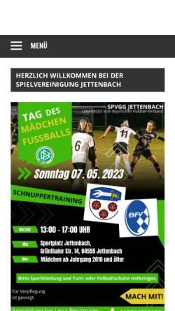 Vorschau der mobilen Webseite www.spvgg-jettenbach.de, SpVgg Jettenbach e.V.