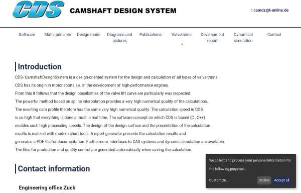 Vorschau von www.cds-valvetrain.com, Camshaft Design System-CDS