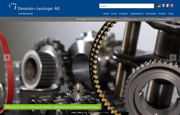 Vorschau von www.denecke.ch, Denecke+Leuzinger AG