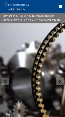 Vorschau der mobilen Webseite www.denecke.ch, Denecke+Leuzinger AG