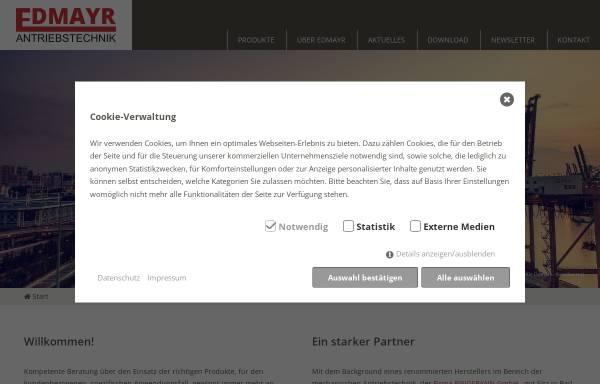 Vorschau von www.edmayr.at, Edmayr Antriebstechnik, Inh. Ing. Manfred Edmayr
