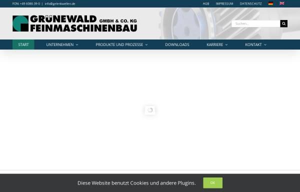 Vorschau von www.gelenkwellen.de, Grünewald Feinmaschinenbau GmbH & Co. KG