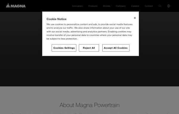 Vorschau von www.magnadrivetrain.com, Magna Drivetrain AG & Co KG