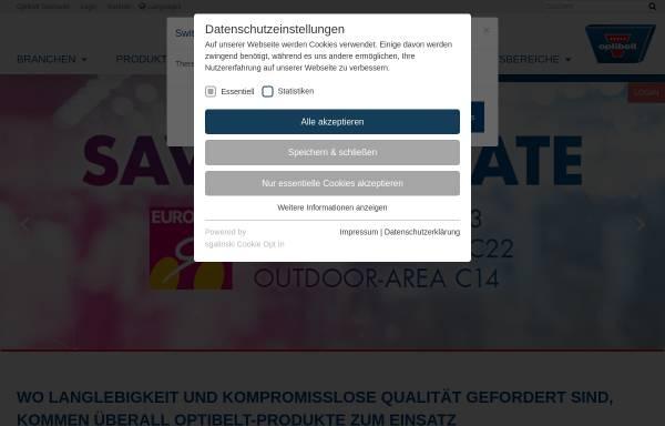 Vorschau von www.optibelt.com, Optibelt GmbH
