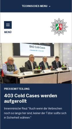 Vorschau der mobilen Webseite www.polizei.nrw.de, Polizei Nordrhein-Westfalen